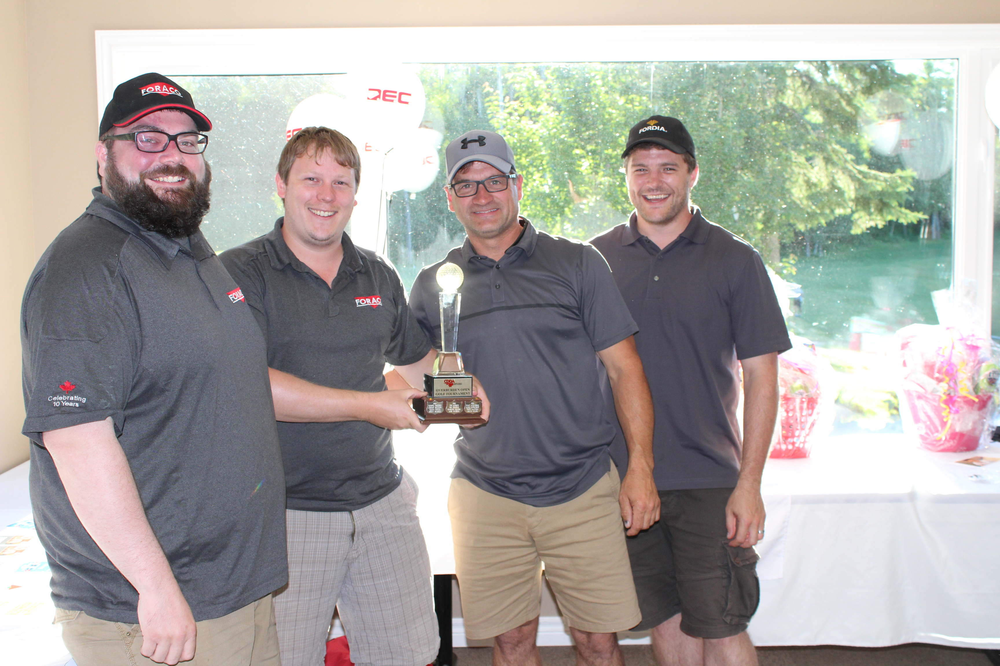 Overburden Golf Tournament - Most Honest Players – Winners - Foraco